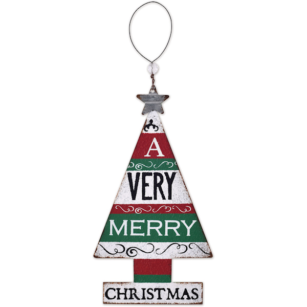 Very Merry Tree Ornament