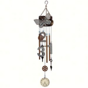 Vintage Butterfly Wind Chime