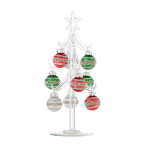 Vintage Glass Tree with Bulb Ornaments