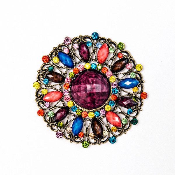 Vintage Multicolored Purse Charm Magnet