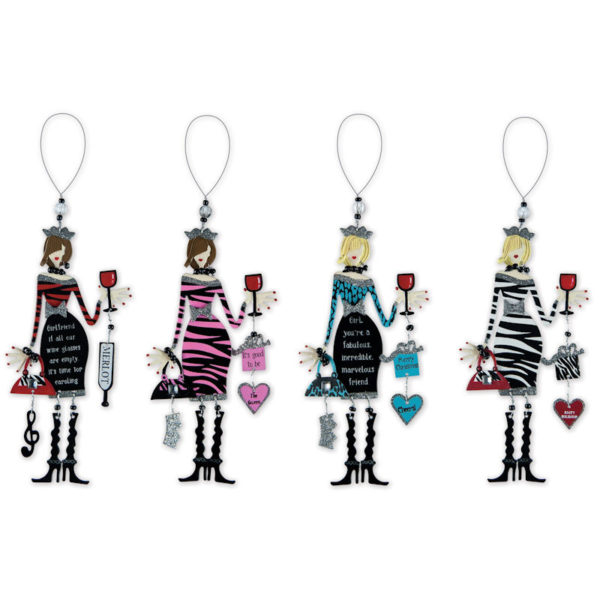 Winey Women Wine Charm and Ornament