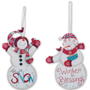 Winter Blessings Snowmen Ornaments