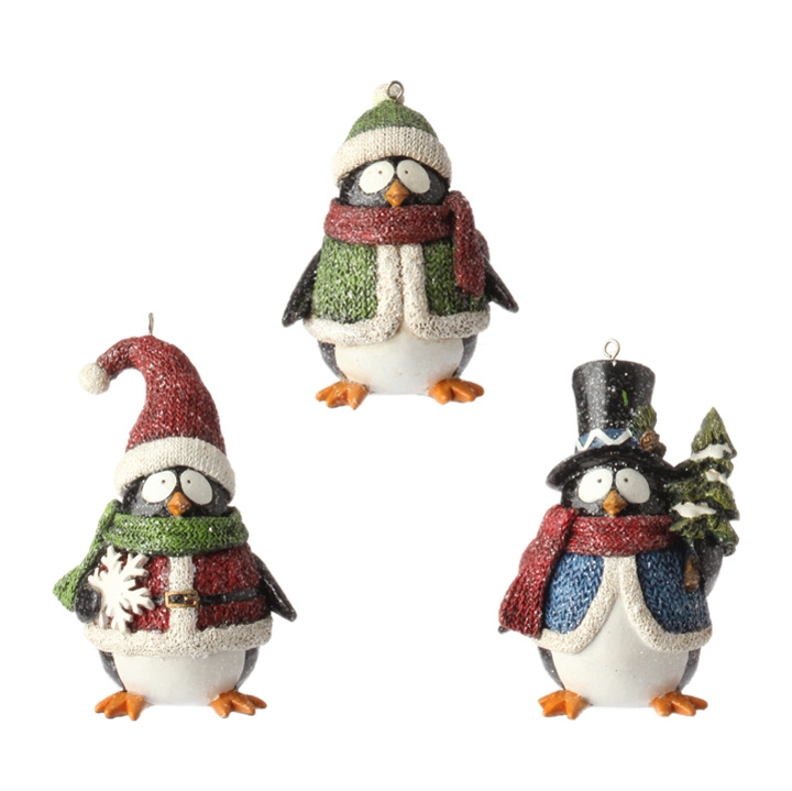 winter penguin christmas ornaments