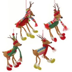 Winter Reindeer Christmas Ornaments