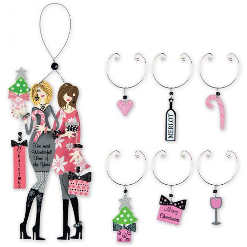 Wonderful Divas Ornament and Wine Charms