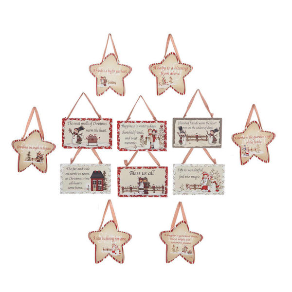 Star and Plaque Ornaments