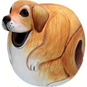 Yellow Lab Dog Shaped Birdhouse