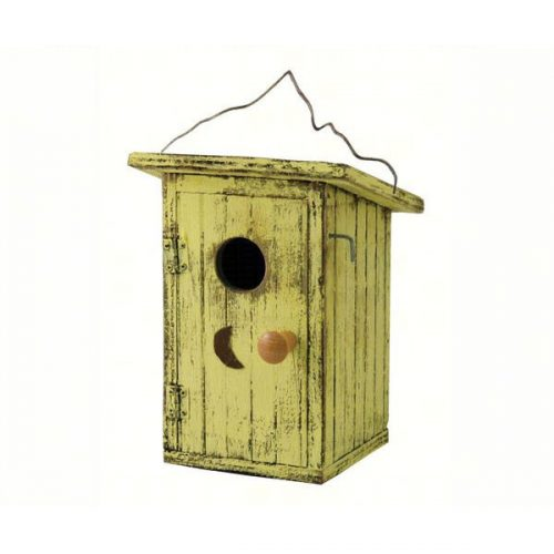 Birdie Loo Yellow Outhouse Birdhouse
