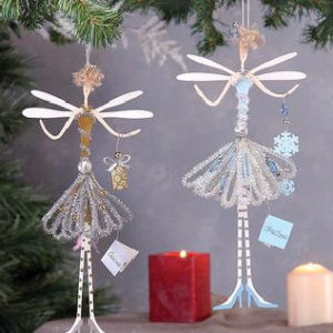 Glitzy Fairy Christmas Ornament